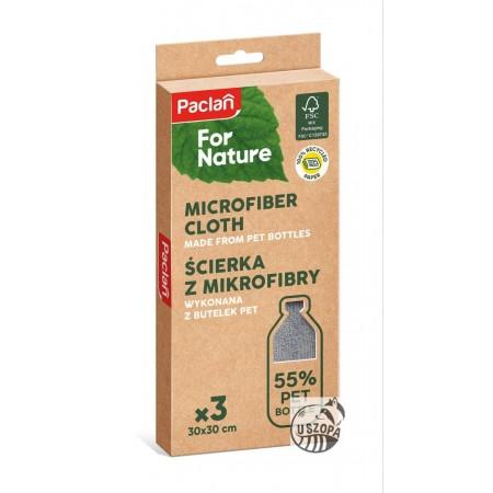 Paclan For Nature ścierki mikrofibra PET 3szt ECO