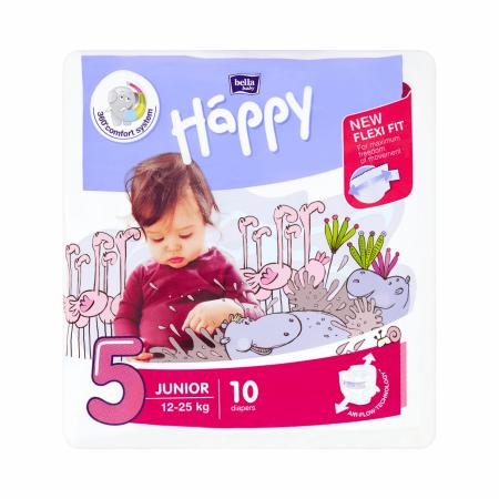 Bella Happy pieluchy Junior 12-25kg 10 szt