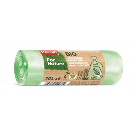 Paclan worki na odpady biodegradowalne 70l 6 szt