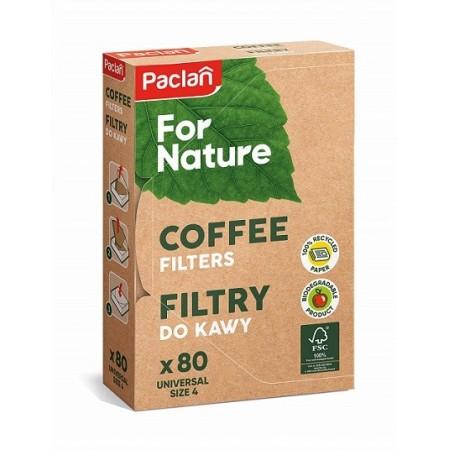 Paclan filtry biodegradowalne do kawy 80 szt.