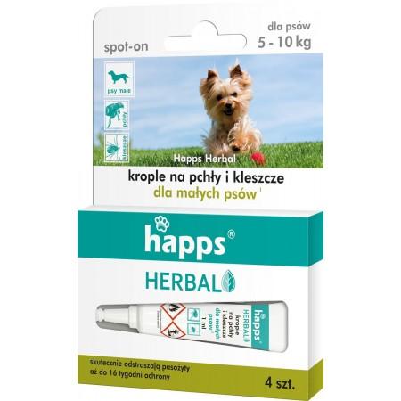 Happs krople na pchły i kleszcze dla psów 5-10kg
