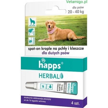 Happs krople na pchły i kleszcze dla psów 20-40kg