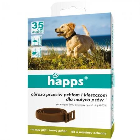 Happs obroża przeciw kleszczom dla małych psów