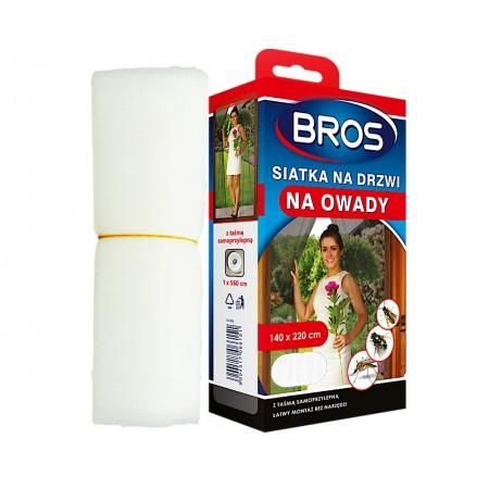 Bros siatka na drzwi na owady 140x220cm biała