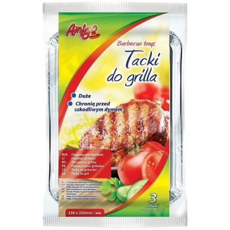 Amigo tacki do grilla prostokątne 23x35cm op. 3szt