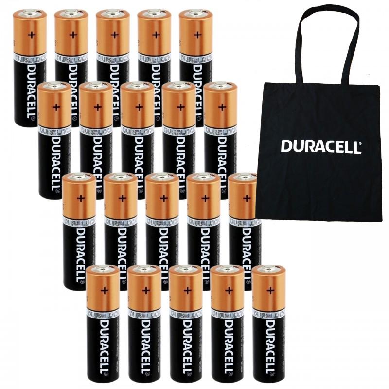 20 x alkaliczne baterie Duracell AA / LR6 plus GRATIS