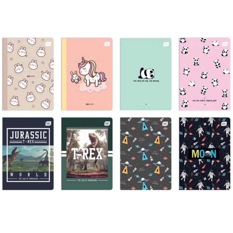 Zeszyt A5 32 kartki trzylinia kolorowa 1szt mix