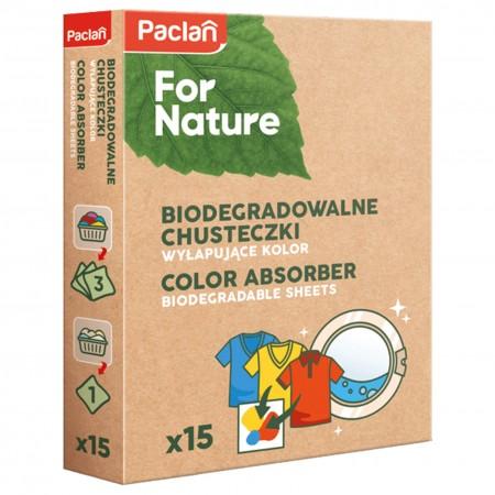 Chusteczki do prania kolor Paclan For Nature 15szt