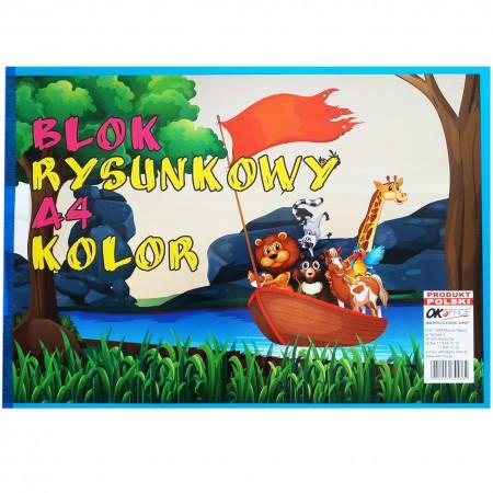 Blok rysunkowy kolorowy A4 kolor 1 sztuka
