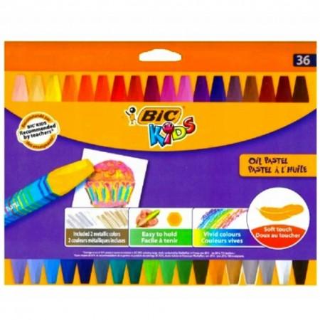 Kredki Pastele Pastelowe Olejne BIC 36 kolorów