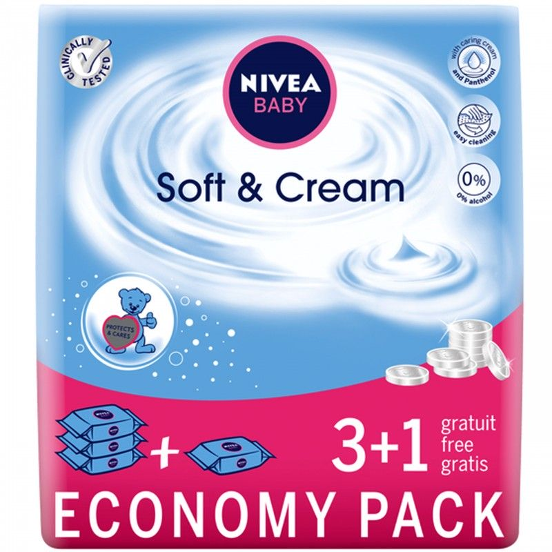 Nivea chusteczki nawilżane Soft & Cream