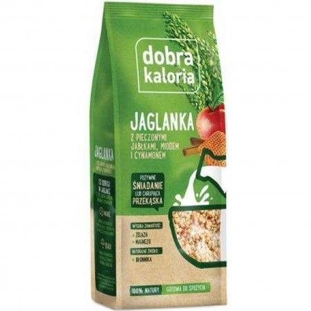 Dobra Kaloria jaglanka - jabłka miód cynamon 120 gramów