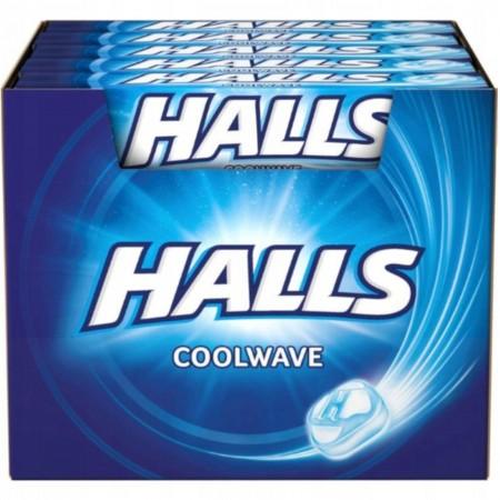 Cukierki Halls Coolwave 33,5g x 20 sztuk