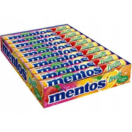 Mentos fruit owocowe cukierki 38g x 20szt