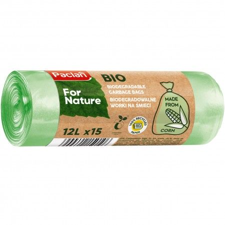 Paclan For Nature worki na śmieci 12L ECO 15 sztuk w opakowaniu