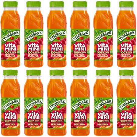 Tymbark Vitamini malina marchew jabłko 0,3l x 12 sztuk