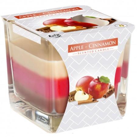 Świeca zapachowa Bispol Jabłko - Cynamon w szkle