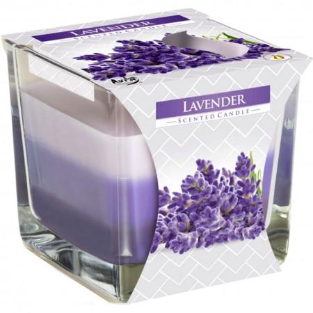 Świeca zapachowa Bispol Lawenda o zapachu lawendy w szkle