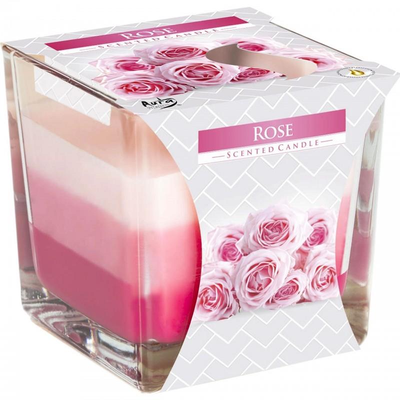 Świeca zapachowa Bispol Róża Różana w szkle