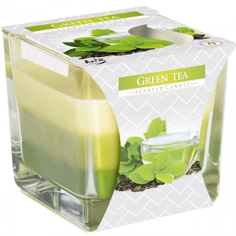 Świeca zapachowa Bispol Zielona Herbata w szkle